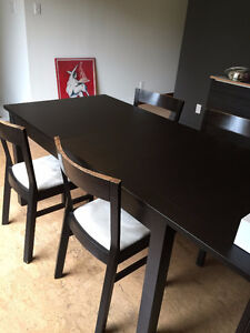 IKEA BJURSTA dining table with 4 chairs