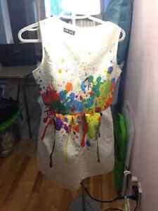 Robe blanche style Julie Snyder