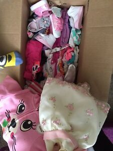 Big diaper box full of 3-6 month baby girl clothes