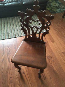 lovely antique mahogany hall chair - price reduced