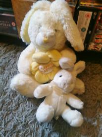 2x Easter bunny Teddies