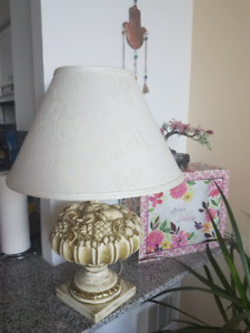 Ceramic Base Art Table Lamp with Shade
