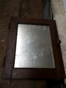 Antique Mirrored Cabinet Door