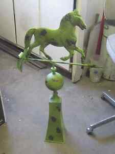 DECORATIVE STAND UP HORSE DIRECTIONAL WEATHERVANE $100 CABIN