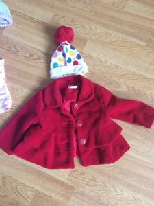 Beautiful coat with matching hat 6-12 months