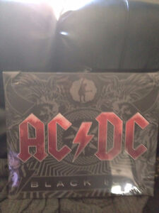 AC/DC Black Ice stretched canvas art