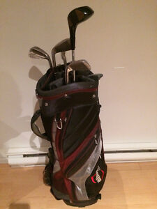 GOLF BAG_ MACGREGOR IRONS_PUTTER_DRIVER