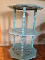 Small light turquoise coffee table