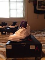 "Air Jordan Retro 5 ""Grapes"" VNDS sz10"