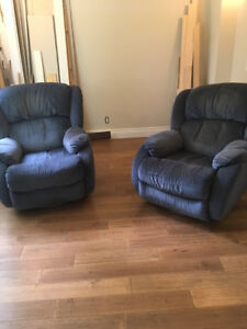 pair of recliners swivel rocking chairs