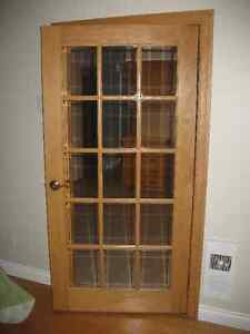 Solid Oak French Door with Frame West Island Greater Montréal image 1