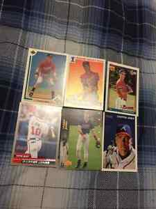 6 Chipper Jones Baseball Cards - 3 Rookies
