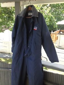 Winter weight work coveralls