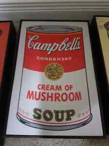 Campbell's soup prints in frames $60  Kitchener / Waterloo Kitchener Area image 3