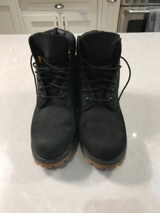 Mens Timberland 6-inch Boot Black/Gum Sole Size 8