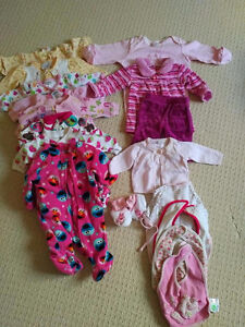 Selection of Newborn/1 Month Girls Clothing