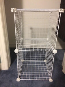 Wire cube storage shelves
