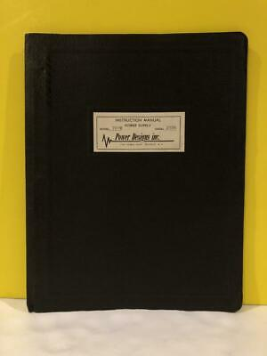 Pacific Electronically Stabilized Power Supply Model 701m Instruction Manual