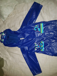 Adorable EUC 18 m monster raincoat