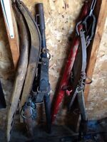 Antique horse Hames and other Farm tool