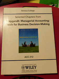 Weygandt : managerial accounting: tools for business decision