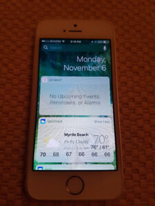 iPhone 5S 16G Silver (Unlocked)