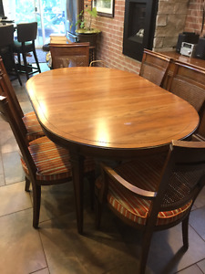 Gently Used and Loved Gibbard 10 piece Solid Wood Dining Set
