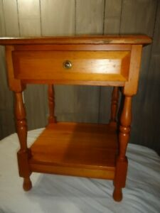 Solid Pine End-Table