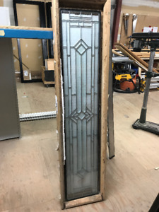 NEVER USED Stained Glass Transom /w Silver Leading 13-1/2 x 69