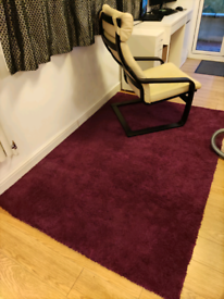 Purple IKEA rug