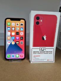 Apple iPhone 11 Red 64GB Unlocked + 98% Battery + Warranty
