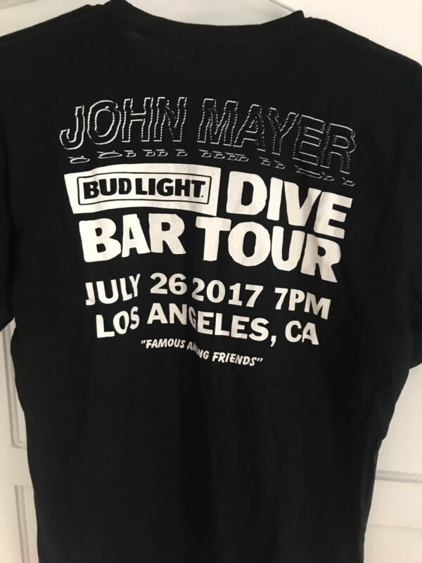 John Mayer Los Angeles Bud Light Dive Bar Exclusive T Shirt Men