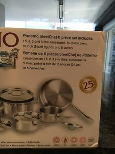 Paderno SteelChef 11 piece stainless steel cookware set Cambridge Kitchener Area image 5