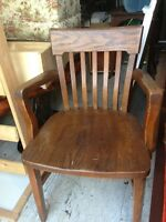 Antique Solid Oak Henderson Captain Chair
