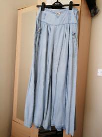 Ice blue Long Skirt