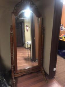Large Beautiful Solid Wood Mirror
