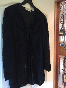 Black sequin and beaded jacket