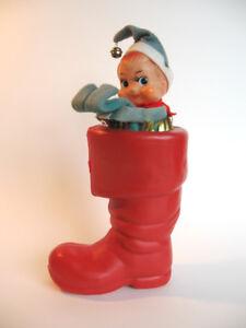Vintage Knee Hugger Pixie Elf in Santa's Boot