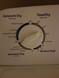Still like new. Used 3 months. Front load Inglis dryer.