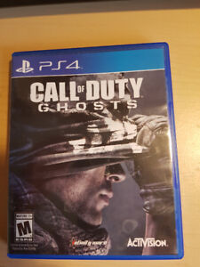 Jeux ps4 Call Of Duty Ghosts 15$