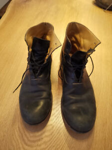 MA+  Boots Size 41 Black Calf Leather