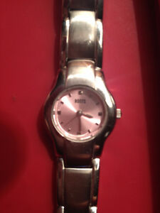 Ladies Roots stainless steel bracelet pink watch