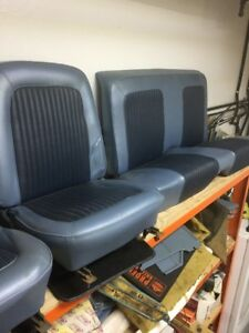 1968 Mustang Blue Interior - FRONT BUCKET SEATS SOLD