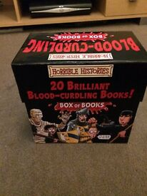 Horrible Histories box of blood-curdling books