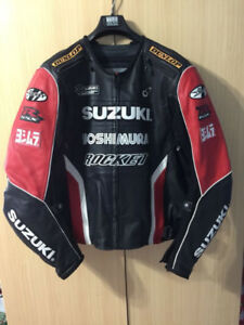 RARE BLACK AND RED YOSHIMURA SUZUKI JOE ROCKET MOTORCYCLE JACKET