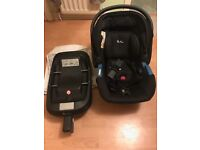 Silver cross baby car seat and seat base