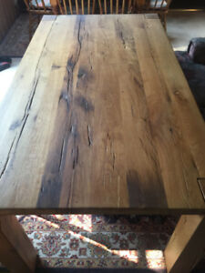 Reclaimed oak dining table (REDUCED PRICE FOR QUICK SALE!)