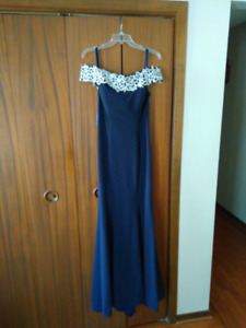 Baby blue formal gown-size 12