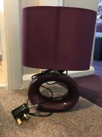 2 identical purple lamps