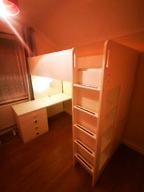 Stuva loft bed and a mattress